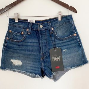 NWT Levi's 501 High Rise Button Fly Jean Shorts